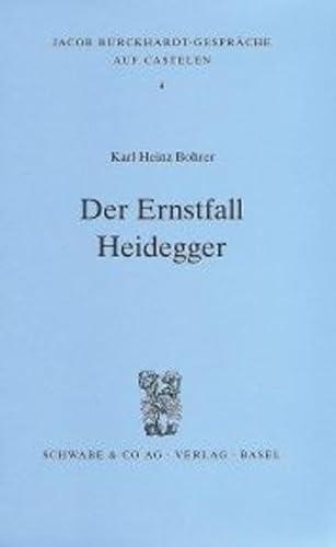 9783796510656: Der Ernstfall Heidegger