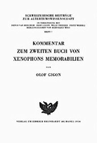 9783796517273: KOMMENTAR ZUM ZWEITEN BUCH VON XENOPHONS MEMORABILIEN