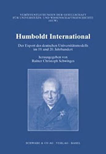 Humboldt International: Rainer Ch Schwinges