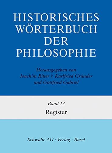 Historisches Wörterbuch der Philosophie Register, m. CD-ROM: Margarita Kranz