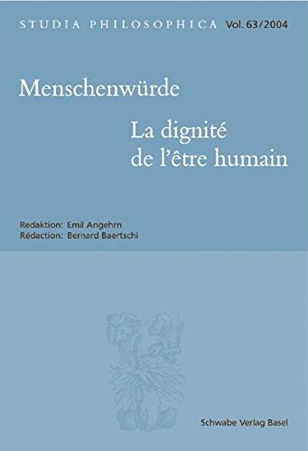 Menschenwürde - La dignité de l?être humain.: Angehrn, Emil u. Bernard Baertschi ...