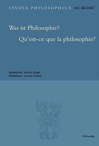 Was ist Philosophie? Qu'est-ce que la philosophie?: Curzio Chiesa