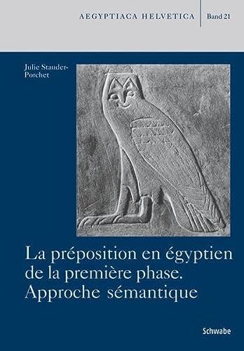 La préposition en égyptien de la première phase: Julie Stauder