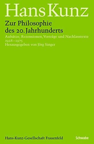 9783796528781: Zur Philosophie des 20. Jahrhunderts: Aufs�tze, Rezensionen, Vortr�ge und Nachlasstexte 1930 - 1977