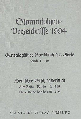 9783798003828: Stammfolgenverzeichnisse 1994