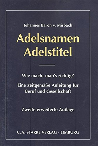 Adelsnamen Deutschland