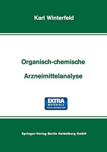 9783798503335: Organisch-Chemische Arzneimittelanalyse (German Edition)