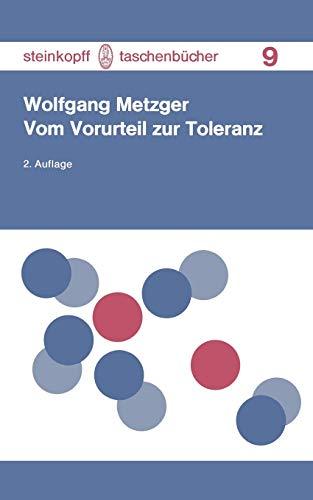 9783798504592: Vom Vorurteil Zur Toleranz (Steinkopff Taschenbücher)