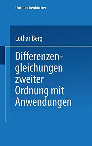 9783798505469: Differenzengleichungen Zweiter Ordnung Mit Anwendungen (Universitätstaschenbücher)