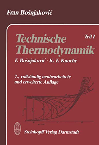 9783798507593: Technische Thermodynamik: Teil I