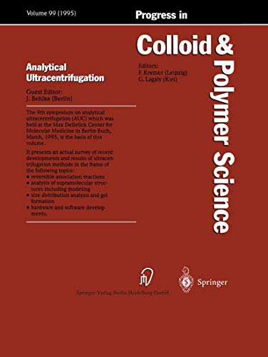 9783798510388: Analytical Ultracentrifugation (Progress in Colloid and Polymer Science, Vol. 99)