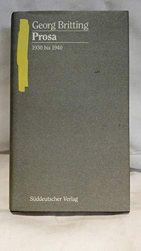 9783799162937: Sämtliche Werke Band 5, Teil 2: Prosa 1930 bis 1940, Erzählungen und kleine Prosa.