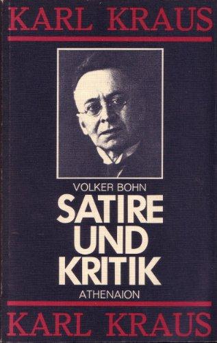 9783799701631: Satire und Kritik. Über Karl Kraus