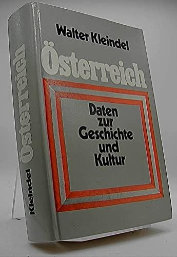 Österreich, Daten zur Geschichte und Kultur: Kleindel, Walter