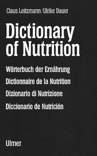 9783800121489: Dictionary of Nutrition.