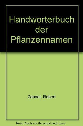 9783800150090: Handworterbuch der Pflanzennamen