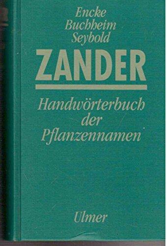 9783800150632: Zander-Handwörterbuch der Pflanzennamen
