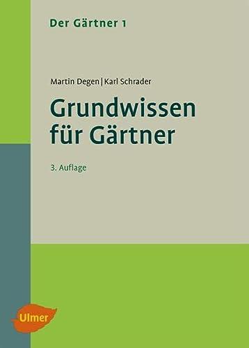 9783800183463: Der Gärtner 1. Grundwissen für Gärtner