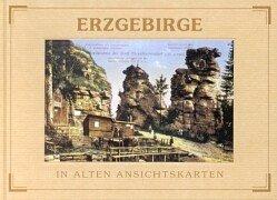 9783800318032: Erzgebirge in alten Ansichtskarten.