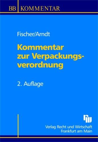 9783800512126: Kommentar zur Verpackungsverordnung