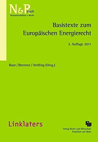 9783800515288: Basistexte zum Europäischen Energierecht
