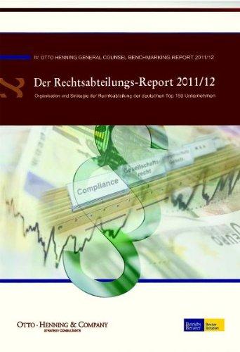 9783800515417: Der Rechtsabteilungs-Report 2011/12 (_NZ)