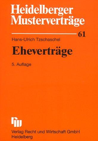 9783800541331: Heidelberger Musterverträge, H.61, Eheverträge