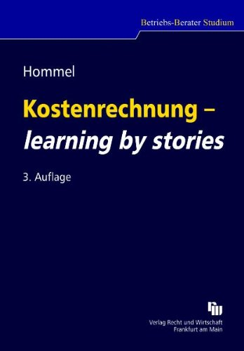 9783800550265: Kostenrechnung - learning by stories