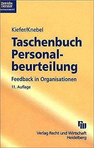 9783800573066: Taschenbuch f�r Personalbeurteilung: Feedback in Organisationen