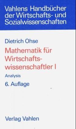 9783800618149: Analysis, Bd 1