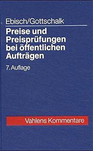 9783800626472: Preise und Preisprüfungen bei öffentlichen Aufträgen.