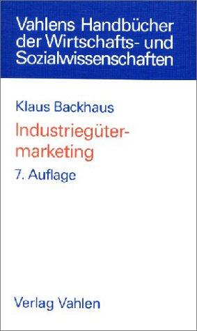 9783800628865: Industriegütermarketing.