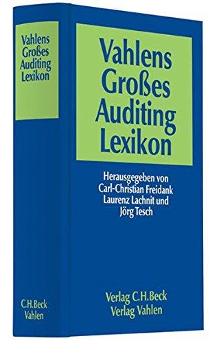 Vahlens Großes Auditing Lexikon: Carl-Christian Freidank