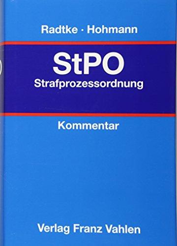 StPO Strafprozessordnung: Henning Radtke