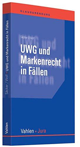 9783800636907: UWG und Markenrecht in F�llen