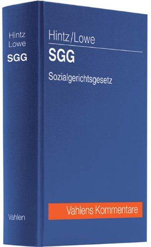 SGG Sozialgerichtsgesetz: Manfred Hintz