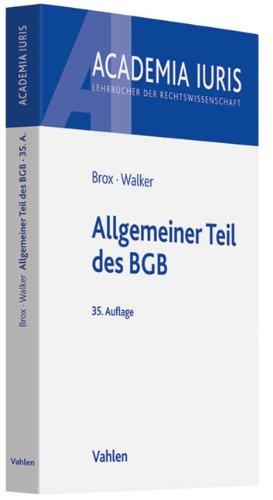 9783800639052: Allgemeiner Teil des BGB
