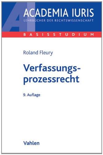 9783800639670: Verfassungsprozessrecht