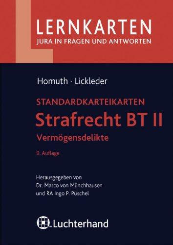 9783800640744: Strafrecht BT II - Vermögensdelikte: Standardkarteikarten. 60 Karteikarten