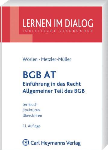 9783800641291: BGB AT: Einführung in das Recht und Allgemeiner Teil des BGB