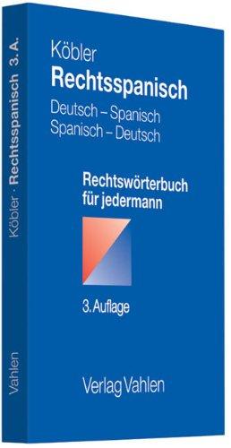 9783800642496: Rechtsspanisch