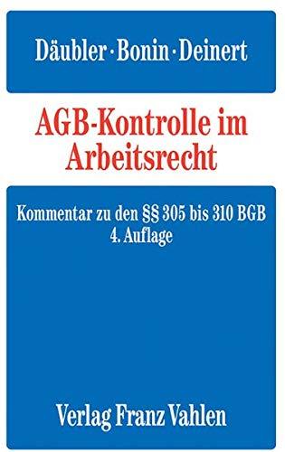 AGB-Kontrolle im Arbeitsrecht: Wolfgang D�ubler