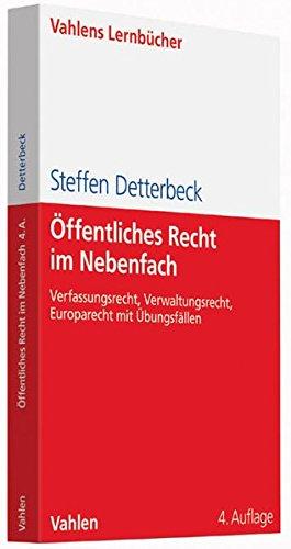 9783800648320: �ffentliches Recht im Nebenfach: Verfassungsrecht, Verwaltungsrecht, Europarecht mit �bungsf�llen