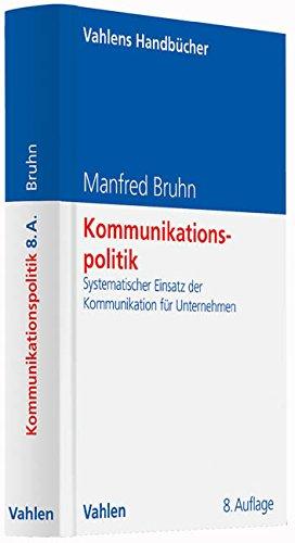 Kommunikationspolitik: Manfred Bruhn