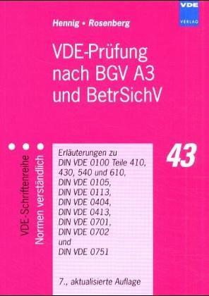 9783800726790: VDE-Prüfung nach BGV A2 ( VBG 4).