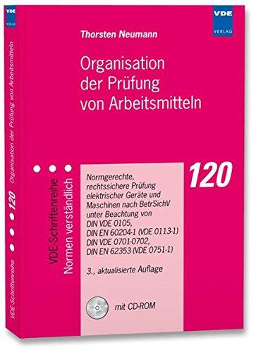 9783800733743: Organisation der Prüfung von Arbeitsmitteln