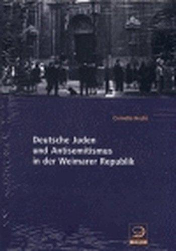 9783801241377: Deutsche Juden und Antisemitismus in der Weimarer Republik