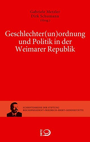 9783801242367: Geschlechter(un)ordnung und Politik in der Weimarer Republik