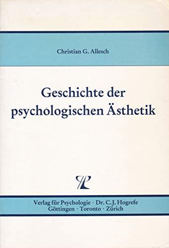 9783801702526: Geschichte der psychologischen Ästhetik