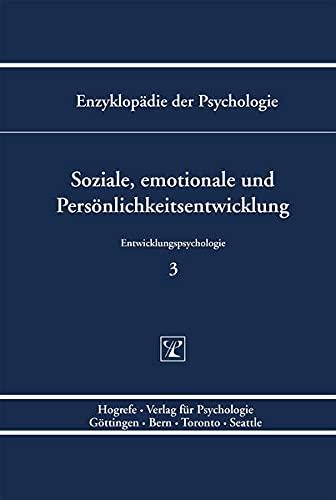 9783801705886: Soziale, emotionale und Persönlichkeitsentwicklung